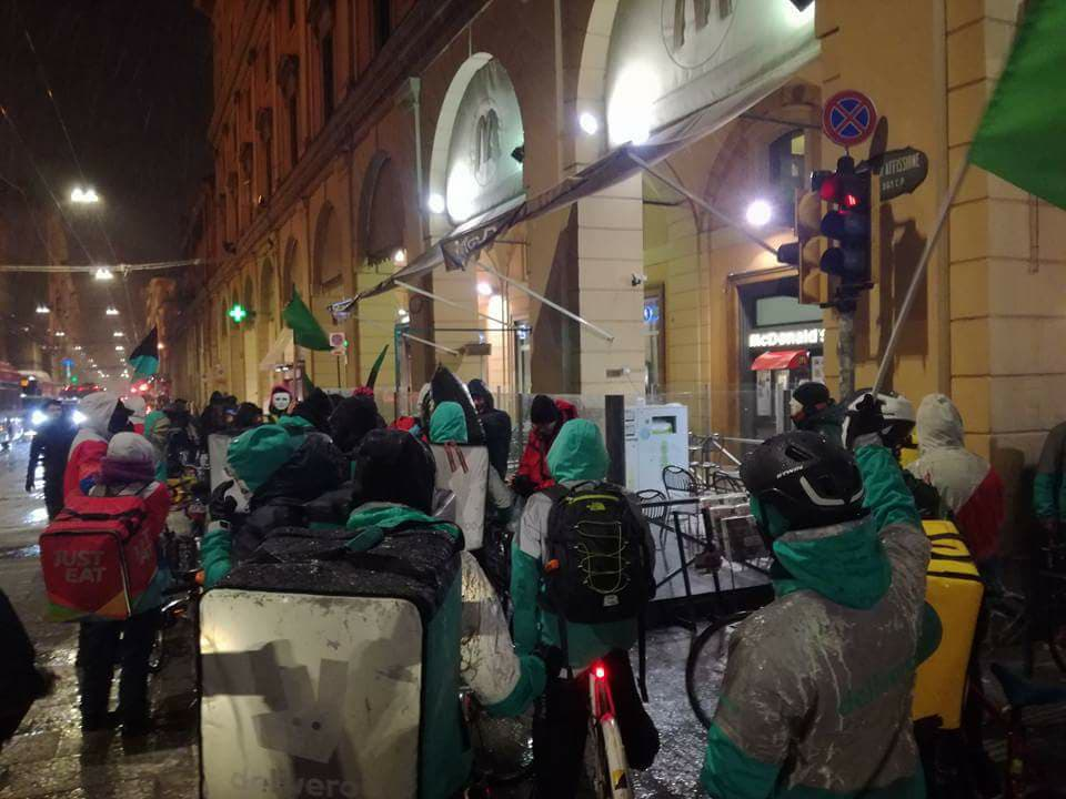 Ancora Sciopero dei riders a Bologna