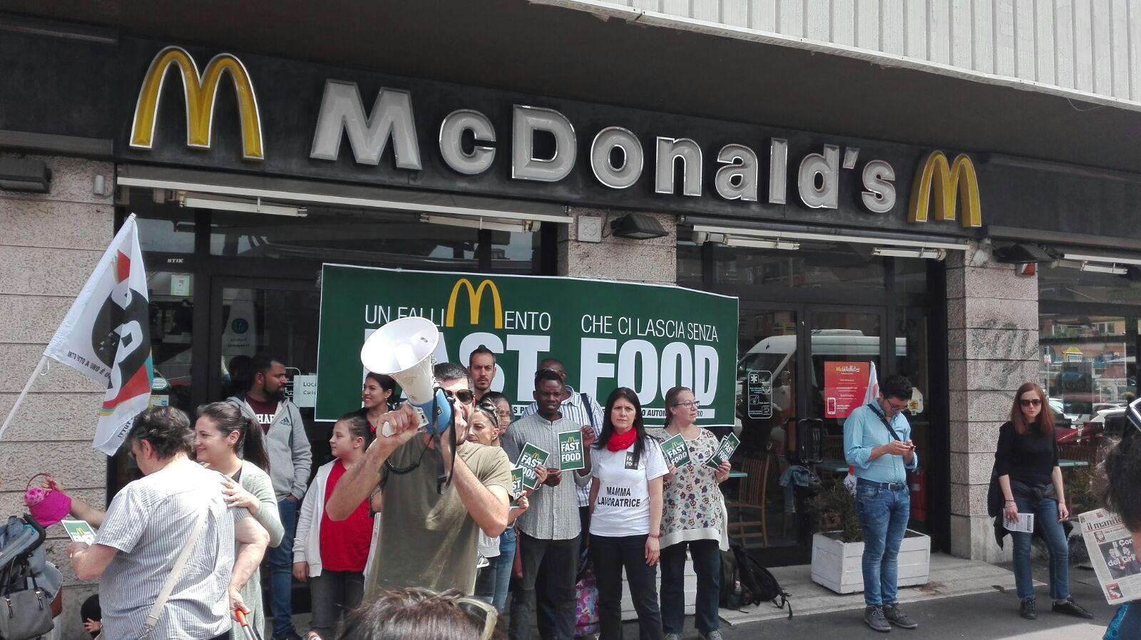Mobilitazione McDonald's 2